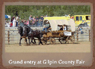 12-person people hauler in Gilpen County Fair Grand Entry